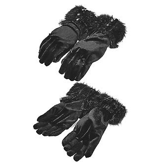 Punk Rave - Mishka samt Handschuhe
