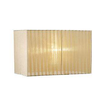 Diyas Florence Rectangle Organza Shade, 400x210x260mm, Soft Bronze, For Floor Lamp