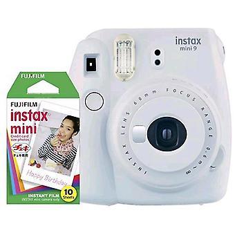 Fujifilm instax mini 9 kit 10 smoky white prints