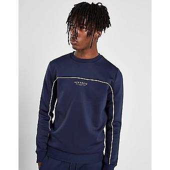 New McKenzie Men's Essential Poly Crew Sweatshirt Navy
