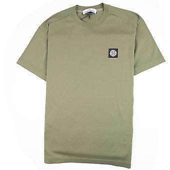 Stone Island Chest Patch Logo T-shirt Khaki V0058
