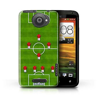 STUFF4/Housse pour HTC One X/4-1-2-1-2/Red/Football Formation