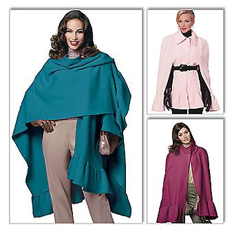 Misses' Wrap And Cape  Y Xsm  Sml  Med Pattern B5684  0Y0