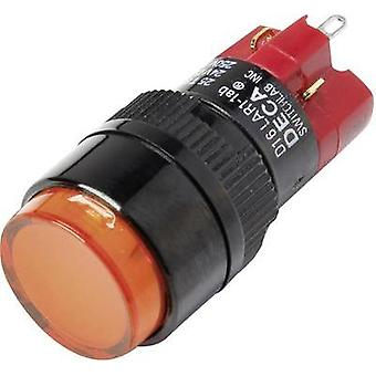 Pushbutton switch 250 Vac 5 A 1 x Off/On DECA D16LAR1-1abJO IP40 latch 1 pc(s)