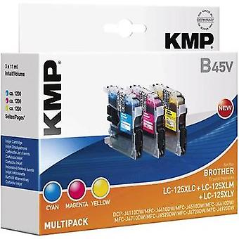 KMP replaced Brother LC-125 Compatible Cyan, Magenta, Yellow B45V 1526,0050