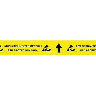ESD tape 1 Rolls Yellow, Black (L x W) 15 m x 70 mm BJZ C-195 075