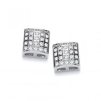 Cavendish French Cute Cubic Zirconia Mini Square Earrings