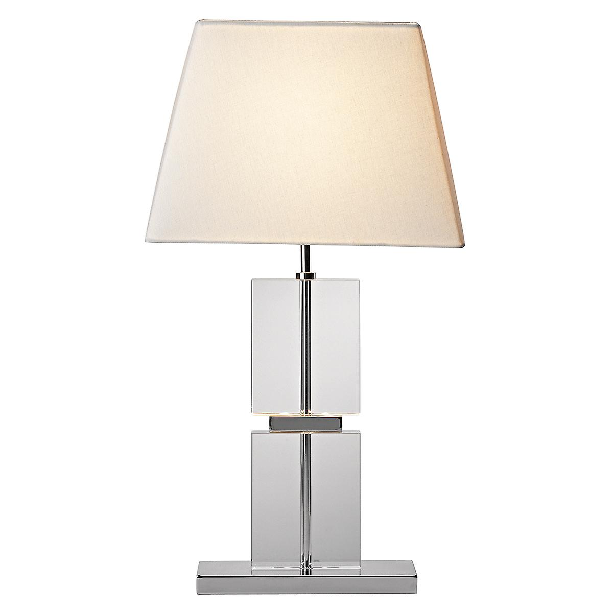 Dar DRE4050 Dream Modern Table Lamp With Quartz Glass And Cream Shade
