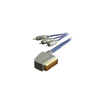 SCART-Cinch-Sissrs02-Sound-Vivanco 17481 & Bild Audio/Video Kabel 2 m