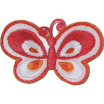 Iron-On Appliques-Pink Butterfly A001300-228