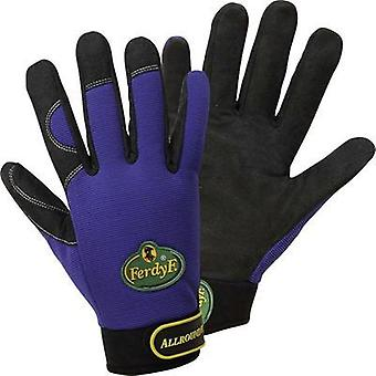 FerdyF. 1900 Royal-blue Clarino® Synthetic-Leather Gants Mechanics Allrounder M, L, XL EN 388