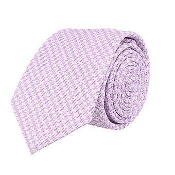 Frédéric Thomass mens tie classic ties purple white 7 cm