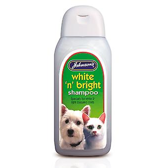 Jvp Dog & Cat White 'n' Bright Shampoo 200ml (Pack of 6)