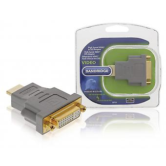 Bandridge High Speed HDMI Adaptor HDMI Connector-DVI-D 24 + 1 Pin Female Grey