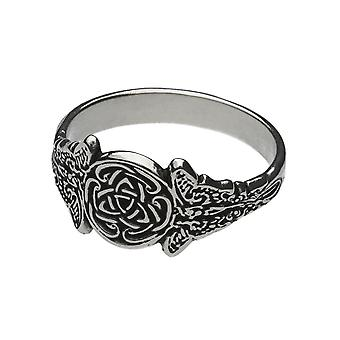 Handmade Sterling Silver Sidhe Celtic Knot Triquetra Ring