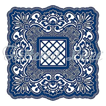 Tattered Lace Signature Style Square Label Die