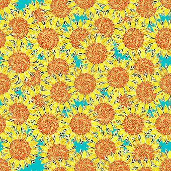 solsikke felt plakat Print af Sharon Turner