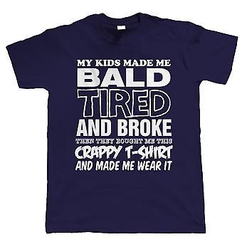 Vectorbomb, mine børn gjorde mig skaldet, Herre sjov T Shirt (S til 5XL)