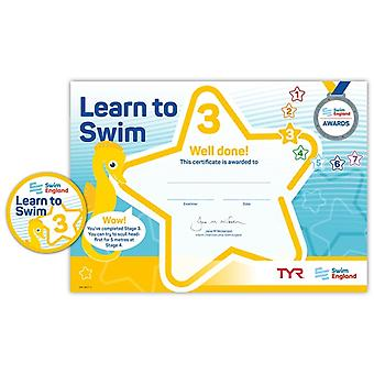 ASA Swim England Learn to Swim Award Stage 3