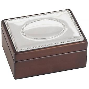 Orton West Silver Top Small Trinket Box - Brown