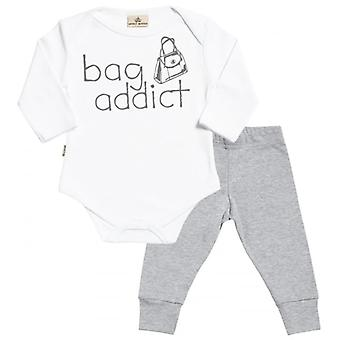 Spoilt Rotten Bag Addict Babygrow & Jersey Trousers Outfit Set