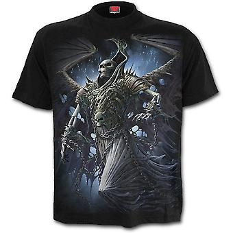 Spiral - WINGED SKELTON - Men's Black Short Sleeve T-Shirt