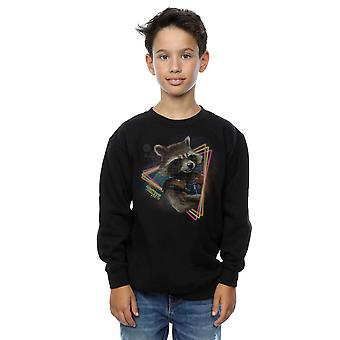 Marvel Boys Guardians Of The Galaxy Neon Rocket Sweatshirt