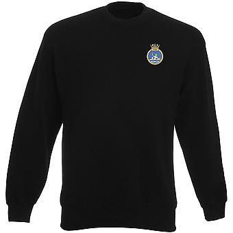 HMS Ocean Embroidered logo - Official Royal Navy Heavyweight Sweatshirt