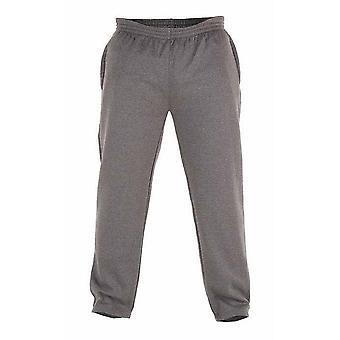Duke Mens Kingsize Albert Open Hem Jogging Bottoms