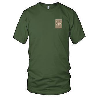 US Army - Army 3rd Battalion 20th SFG Combat Helmet Desert Embroidered Patch - Mens T Shirt