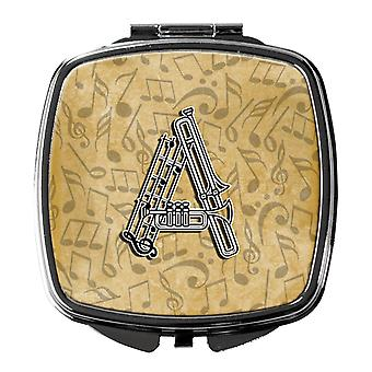 Letter A Musical Instrument Alphabet Compact Mirror