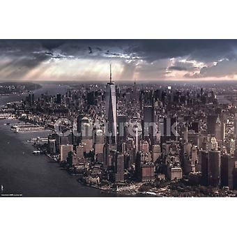 New York City Under Storm Poster affisch Skriv