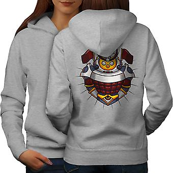 Knight Colorful Women GreyHoodie Back | Wellcoda