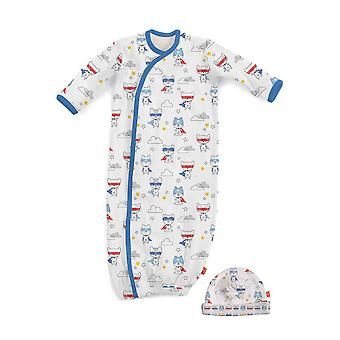 Magnificent Baby Magnetic Me™ My Little Super Hero Baby Gown & Hat Set