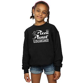 Disney Girls Toy Story Pizza Planet Logo Sweatshirt