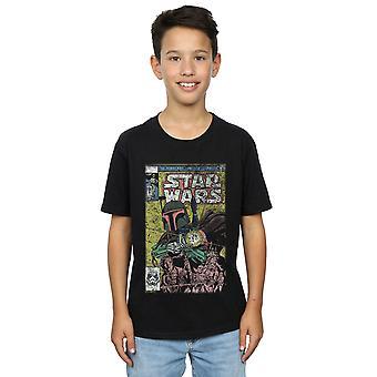 Star Wars Boys Boba Fett Comic T-Shirt