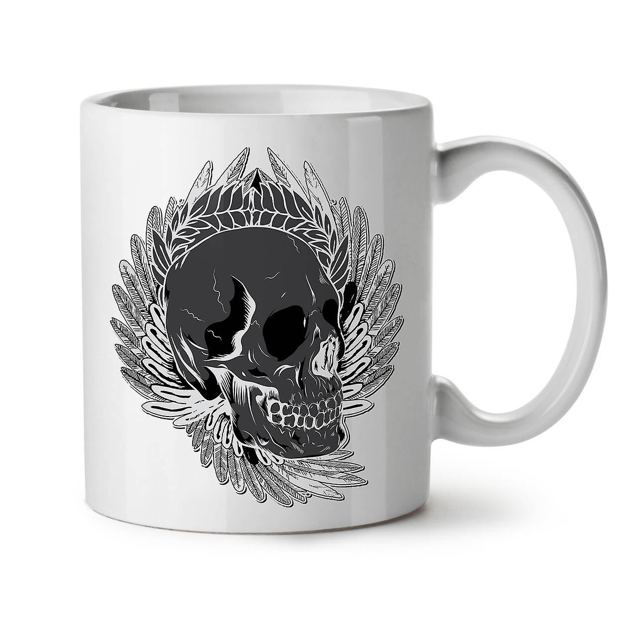 Skull Plume Tasse Céramique Thé Café Rose 11 Nouveau Dead OzWellcoda Blanc 5Rj3Lq4A