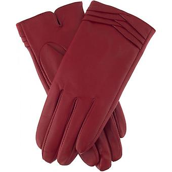 Dents Katrina Folded Cuff Detail Gloves - Berry