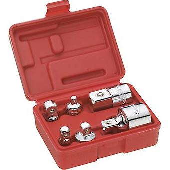 Bit adpter set Drive (screwdriver) 1/4 (6.3 mm), 3/8 (10 mm), 1/2 (12.5 mm), 3/4 (20 mm) Downforce 1/4 (6.3 mm),