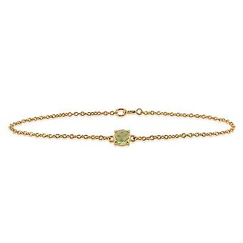 Gemondo Amour Damier 9ct Yellow Gold 0.64ct Peridot Checkerboard 19cm Bracelet