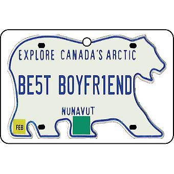 NUNAVUT - Best Boyfriend License Plate Car Air Freshener
