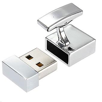 Arbetar 8GB USB Flashdrive Memory Stick nyhet manschettknappar Silver Tone