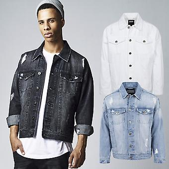 Urban classics - RIPPED destroyed denim jeans jacket