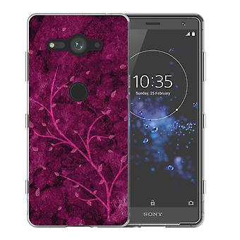 Sony Xperia XZ2 Compact roze boom TPU Gel geval