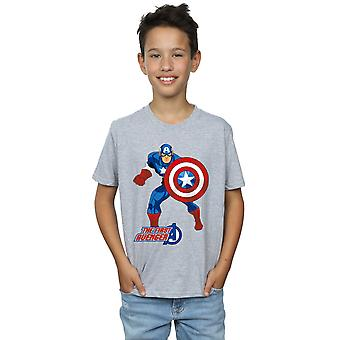 Marvel Boys Captain America The First Avenger T-Shirt