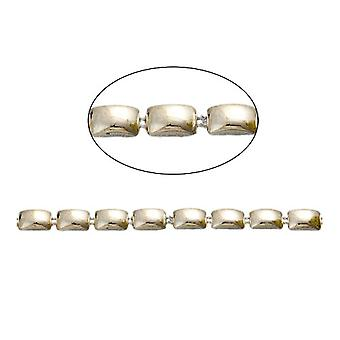 1.8m x Pale Gold Acrylic 5 x 8mm Closed Decorative Link Chain CH2305