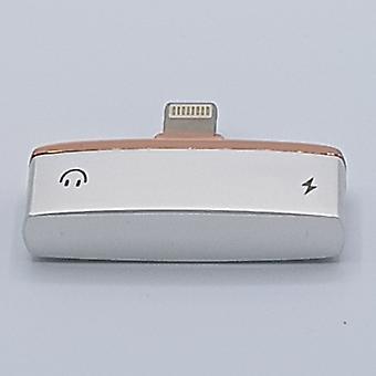 2 in Lightning compatible splitter -adapter - audio en opladen voor iPhone 7 en 7 Plus / 8 en 8 plus en iPhone X - goud