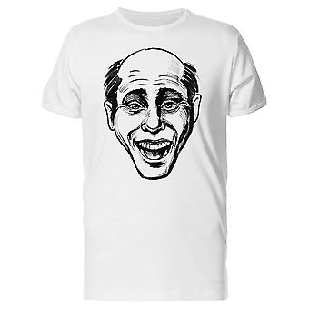 Laughing Bald Man B&W Tee Men's -Image by Shutterstock