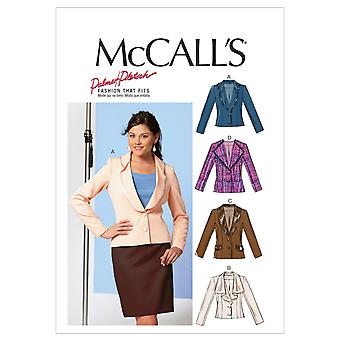 Misses' Lined Jackets-16-18-20-22-24 -*SEWING PATTERN*