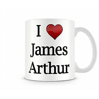 Jag älskar James Arthur tryckta mugg